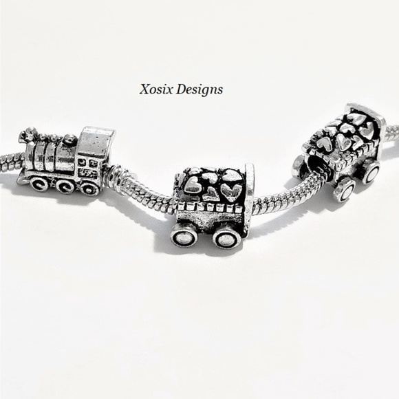 European Culture Jewelry - Train Heart Cart Coals Be Mine LOVE European Charm